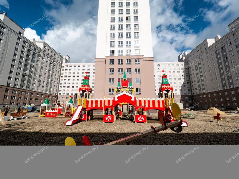 двухкомнатная квартира в новостройке на Московское шоссе, 167, дом 61