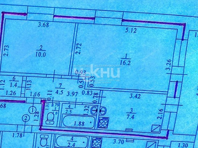 двухкомнатная квартира на улице Луначарского дом 40А село Починки