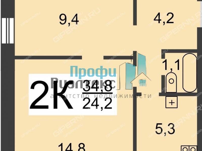 двухкомнатная квартира на Электровозной улице дом 4